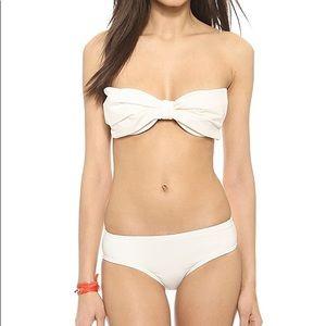 Kate Spade New York Cream White Bow bikini top S